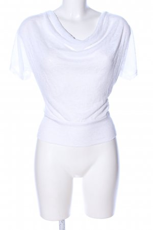 Unito Koszulka z dekoltem woda biały W stylu casual