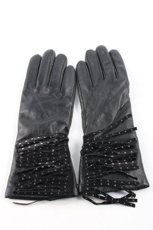 Unmade Leren handschoenen zwart elegant