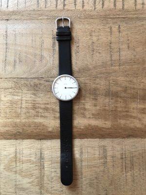Uno Orologio con cinturino di pelle nero-bianco