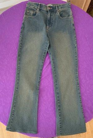 Uno Due Jeans stretch gris ardoise-bleuet