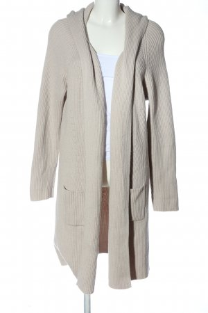 Uno Due Knitted Coat natural white cable stitch casual look
