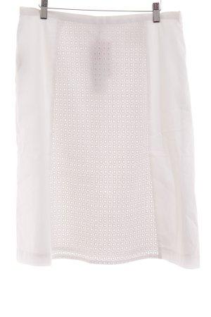 UNQ Jupe asymétrique blanc Mélange de motifs élégant
