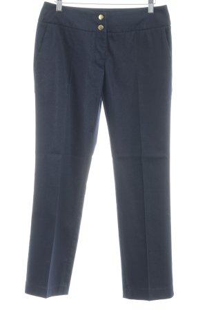 UNQ Bundfaltenhose dunkelblau Business-Look
