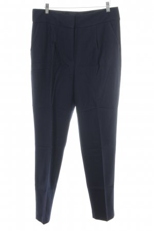 UNQ Bundfaltenhose dunkelblau Business-Look