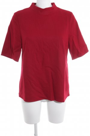 UNQ Kurzarm-Bluse karminrot Elegant