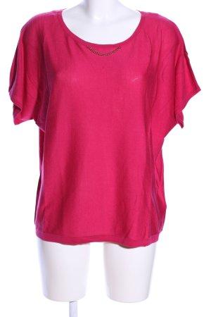 UNQ Kurzarmpullover pink Casual-Look
