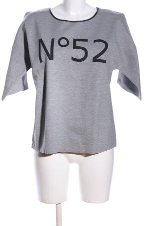 UNQ T-Shirt hellgrau-schwarz meliert Casual-Look
