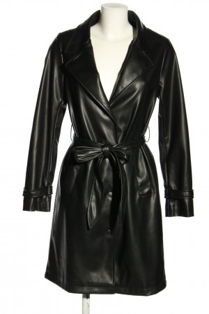 Unreal Fur Kunstledermantel schwarz Casual-Look