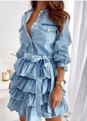 Jeansjurk lichtblauw