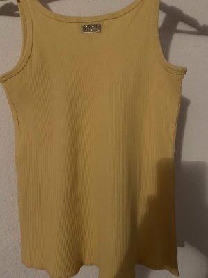 John Richmond Camicia a maniche corte giallo-oro-bianco