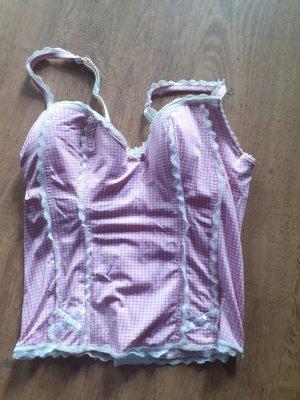 unterhemd corsage weiss rosa
