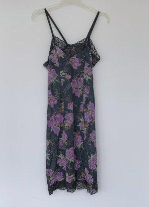 Unterkleid mit Höschen, schwarz-lila, Größe 42