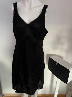 Unterkleid Nylon mit Spitze Gr 42 44 XL
