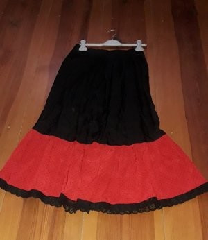 Helene Straßer Enaguas negro-rojo Viscosa