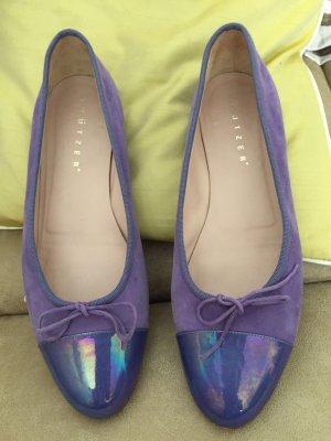 Unützer Bailarinas con punta púrpura-violeta grisáceo Cuero