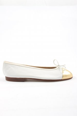 Unützer Klassische Ballerinas weiß-goldfarben Casual-Look