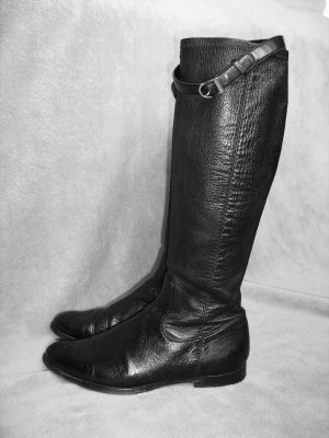 Unützer Botas de equitación negro Cuero