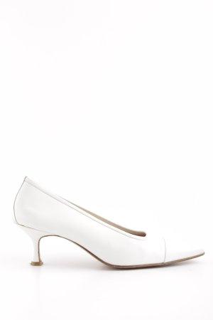 Unützer Zapatos de punta blanco estilo «business»