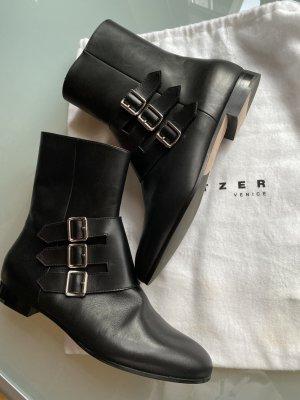 Unützer Stiefeletten NEU Boots Handmade schwarz Leder