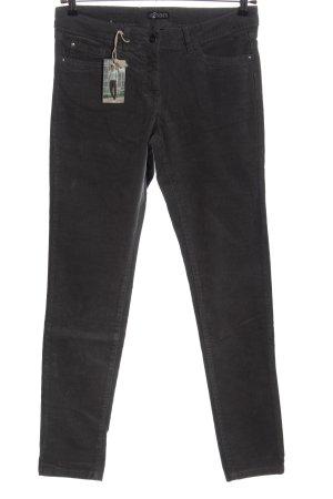 Up2fashion Pantalon en velours côtelé noir moucheté style décontracté