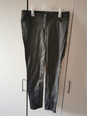 Pantalón de cinco bolsillos negro-gris antracita Algodón