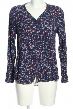 Up2fashion Langarm-Bluse Allover-Druck Casual-Look