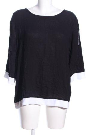 Up2fashion Langarm-Bluse schwarz-weiß Casual-Look