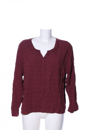 Up2fashion Langarm-Bluse rot Allover-Druck Casual-Look