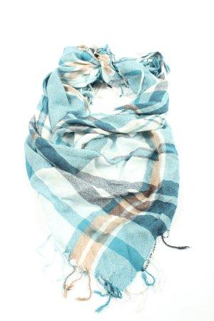 Up2fashion Shemagh bleu-blanc cassé motif à carreaux style décontracté