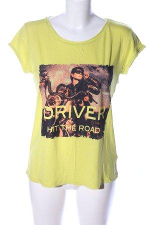 Up2fashion Print-Shirt blassgelb Motivdruck Casual-Look