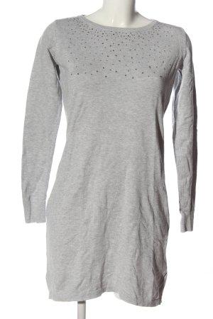Up2fashion Vestido tipo jersey gris claro moteado look casual