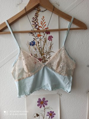 Upcyced vintage lace cami top