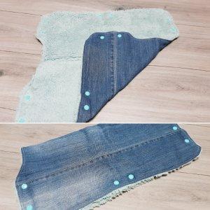 Upcycling Jeans Kinderwagenmuff