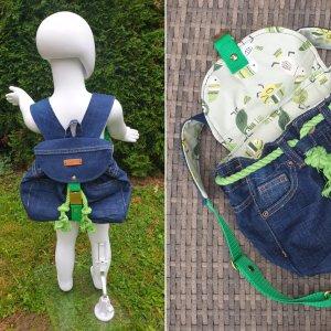 Kindergarden Backpack steel blue-green