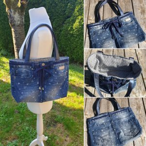 Upcycling Tasche - Jeans/Stoff