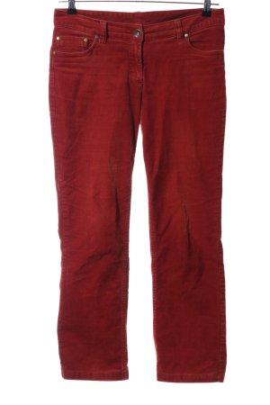 UpFashion Pantalon en velours côtelé rouge style décontracté