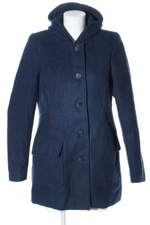 UpFashion Cappotto con cappuccio blu stile casual