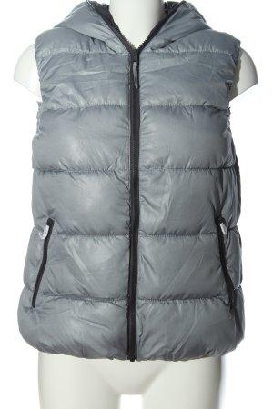 UpFashion Smanicato con cappuccio grigio chiaro motivo trapuntato stile casual