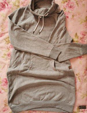 Upfashion Pulloverkleid für den Winter - in L, mit Rollkragen, hellgrau
