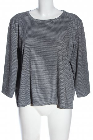 UpFashion Rundhalspullover schwarz-weiß Casual-Look