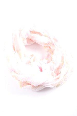 UpFashion Écharpe ronde rose-jaune primevère motif abstrait
