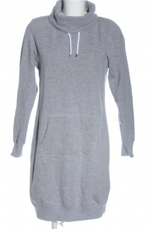 UpFashion Sweat Dress light grey flecked casual look