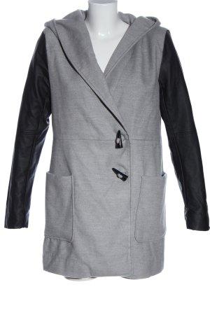 UpFashion Winter Coat light grey-black flecked casual look