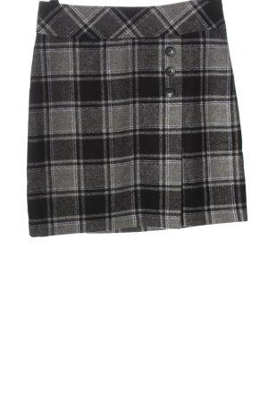 UpFashion Wool Skirt black-light grey allover print casual look