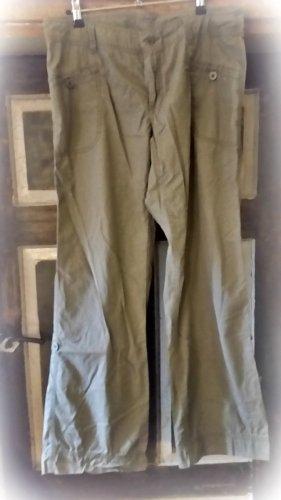 TCM Spodnie khaki szaro-brązowy Bawełna