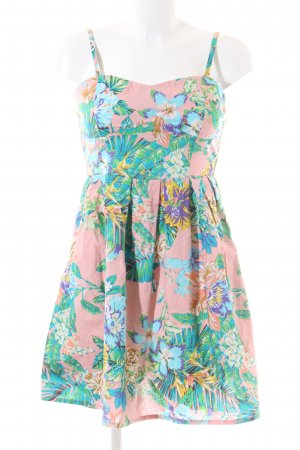 Vestido bustier estampado floral elegante