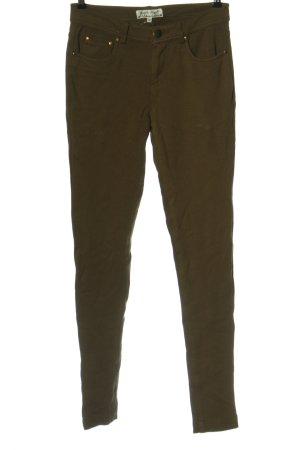 URBAN BLISS Spodnie z pięcioma kieszeniami brąz W stylu casual