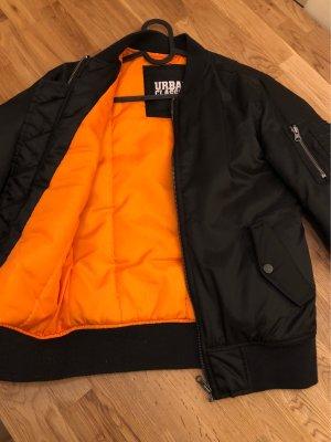 Urban Classics Bomberjack zwart-oranje