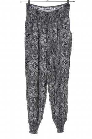 Urban Classics Baggy Pants black-white allover print casual look