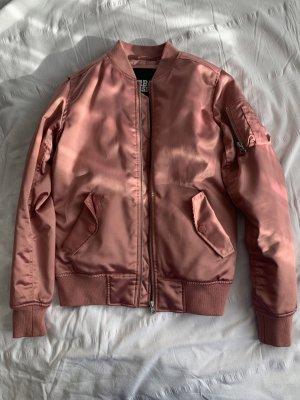 Urban Classics Chaqueta bomber color rosa dorado